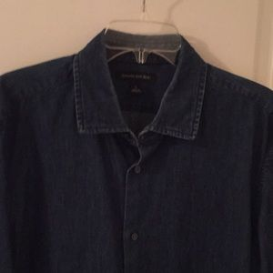 Banana Republic dark denim chambray shirt
